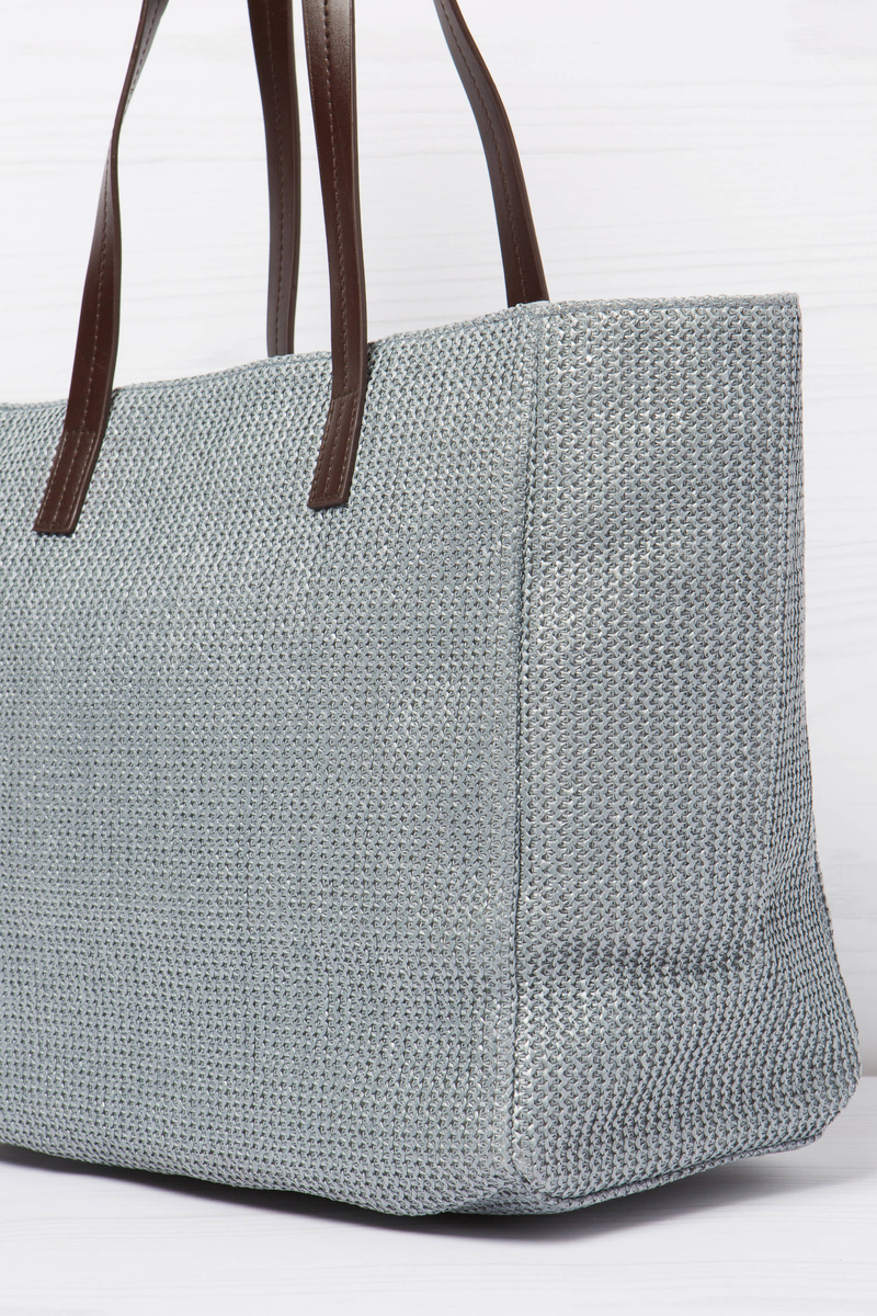 Woven shoulder bag image number null