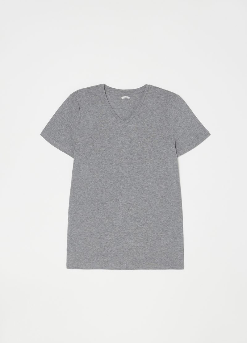 100% mélange cotton undershirt image number null