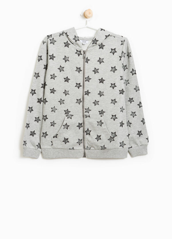 100% cotton sweatshirt with stars | OVS