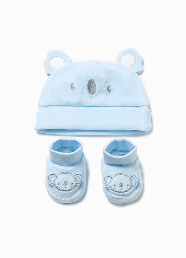 Ears hat and shoes set