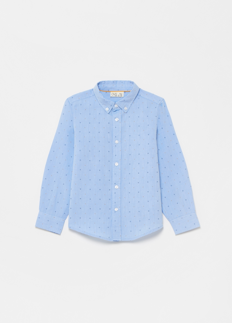 Camicia button-down fantasia lettering image number null