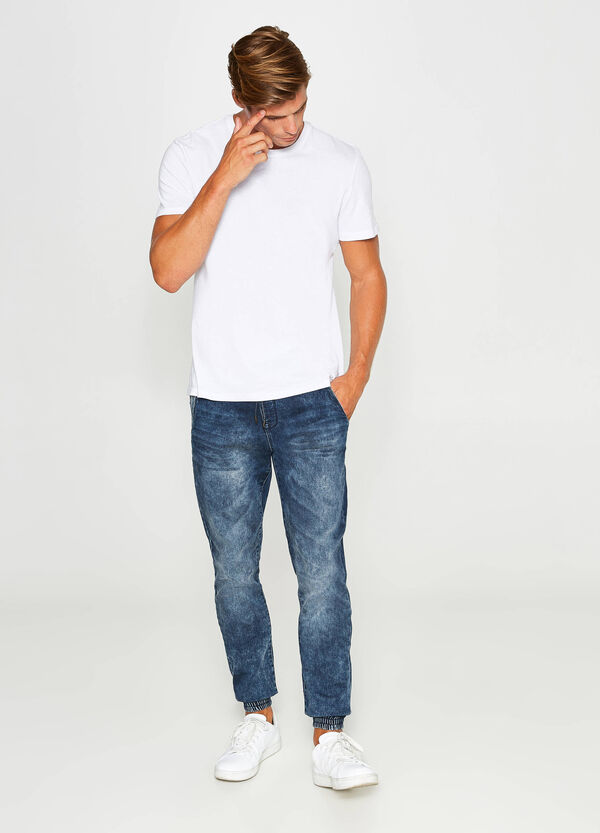 Jeans loose fit stretch con coulisse