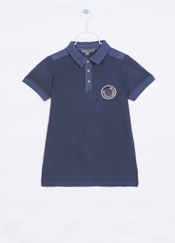 100% cotton polo shirt with patch | OVS