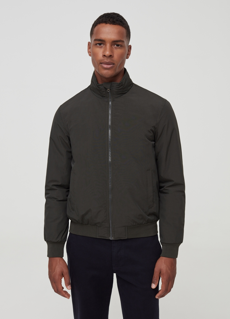 PIOMBO full-zip bomber jacket with high neck image number null