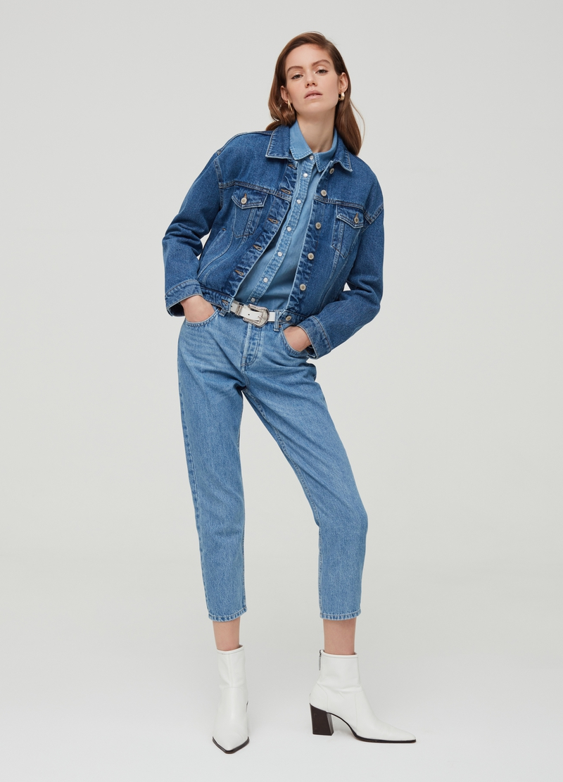 Giacca regular fit in denim image number null