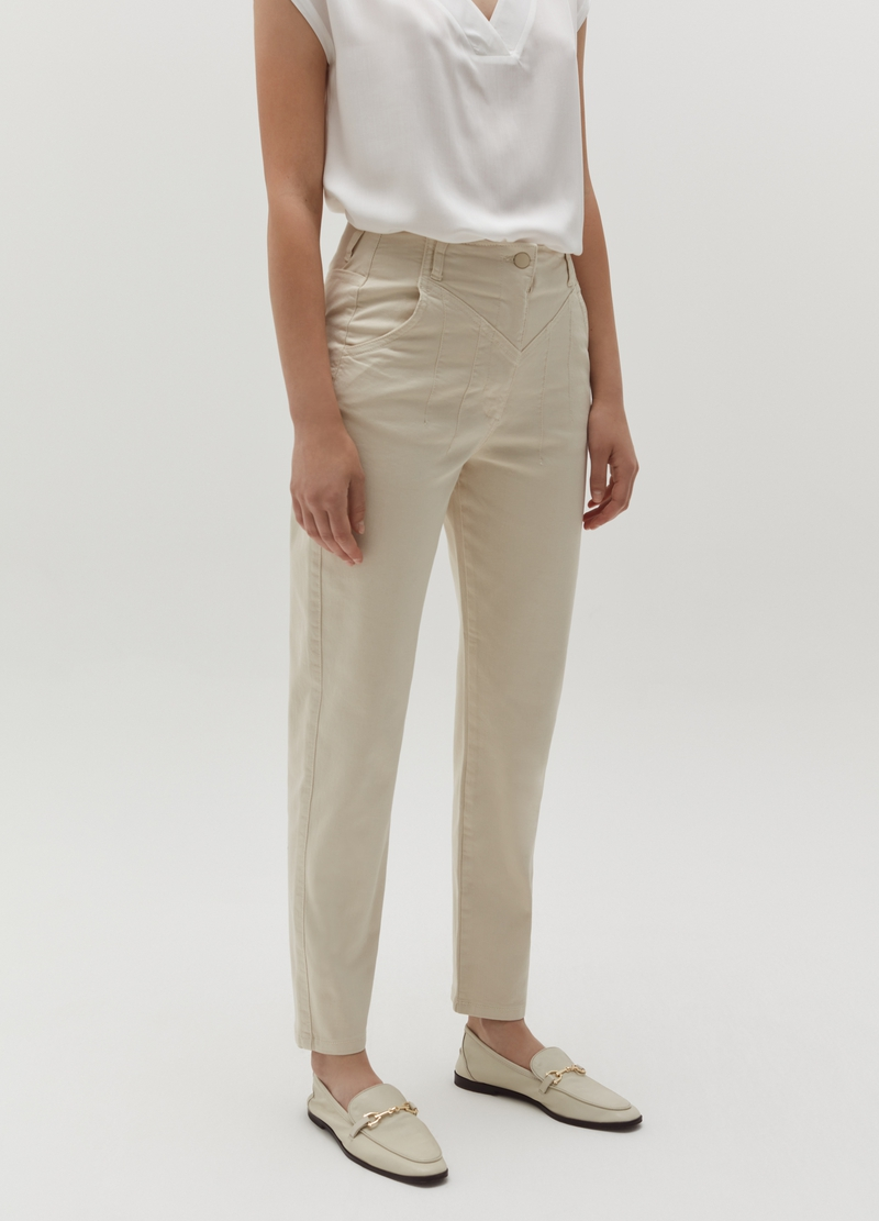 Pantaloni a sigaretta in twill image number null