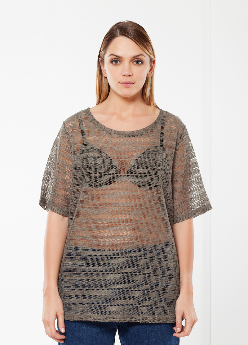 T-shirt Curvy a rete image number null