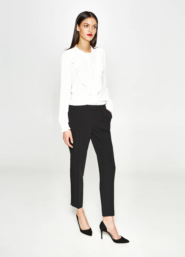 Stretch trousers with crease   OVS