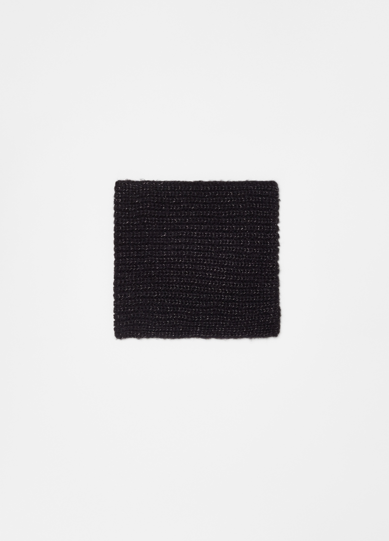 Neck warmer with braided weave lurex image number null