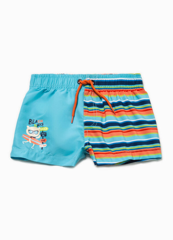 Swim boxer shorts with print and stripes | OVS