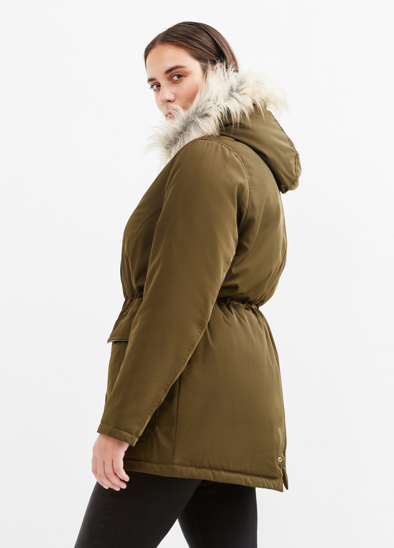 Curvy faux fur jacket image number null