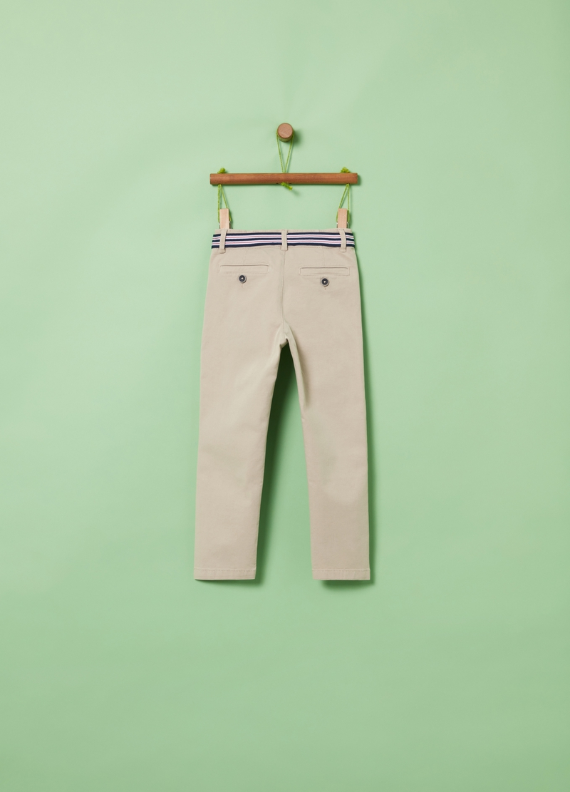 Chino trousers in stretch organic cotton image number null