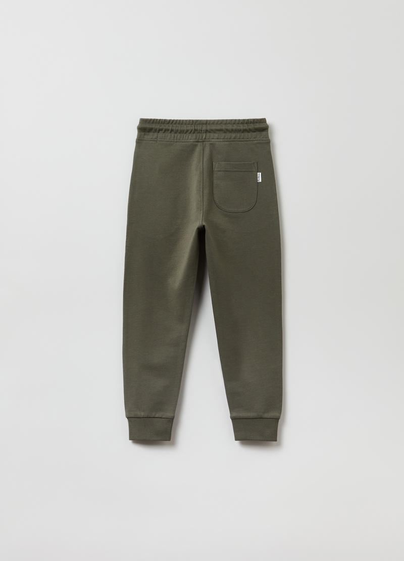 Joggers in cotone con coulisse image number null