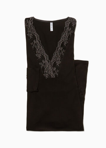 Stretch nightshirt with lace