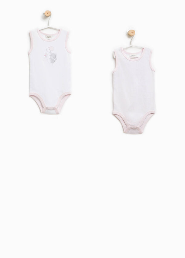 Two-pack striped bodysuits in 100% Biocotton | OVS