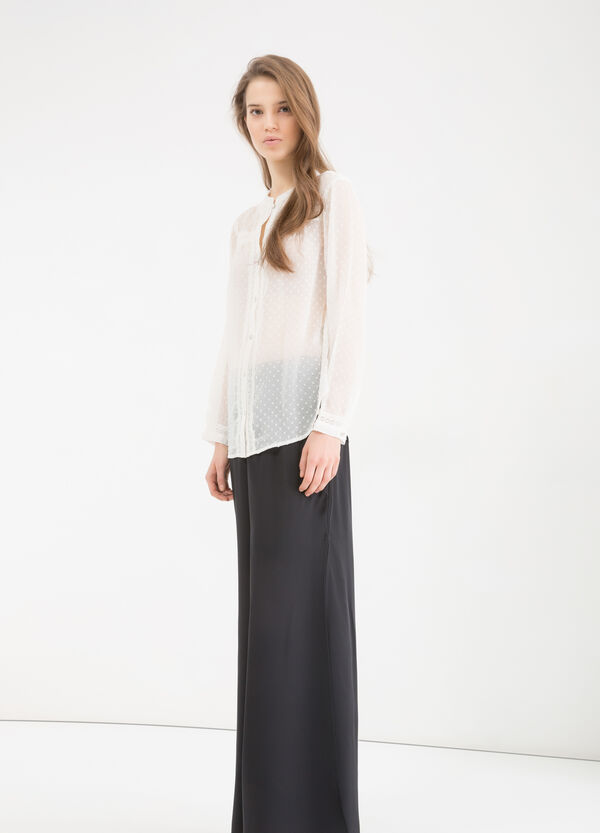 Semi-sheer shirt | OVS