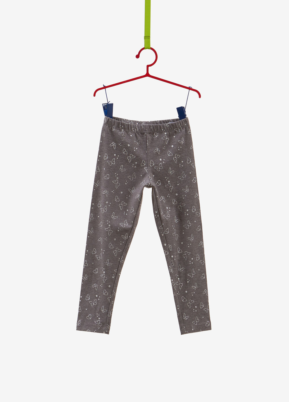 Leggings stretch stampa farfalle all-over