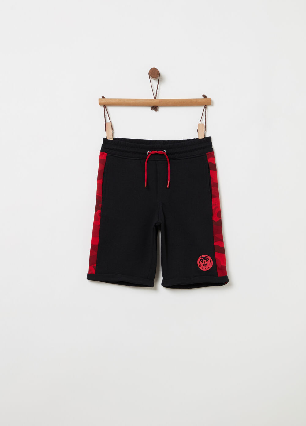 Shorts French Terry bande camouflage