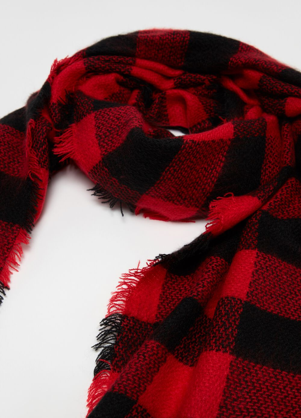Jacquard pashmina with check pattern