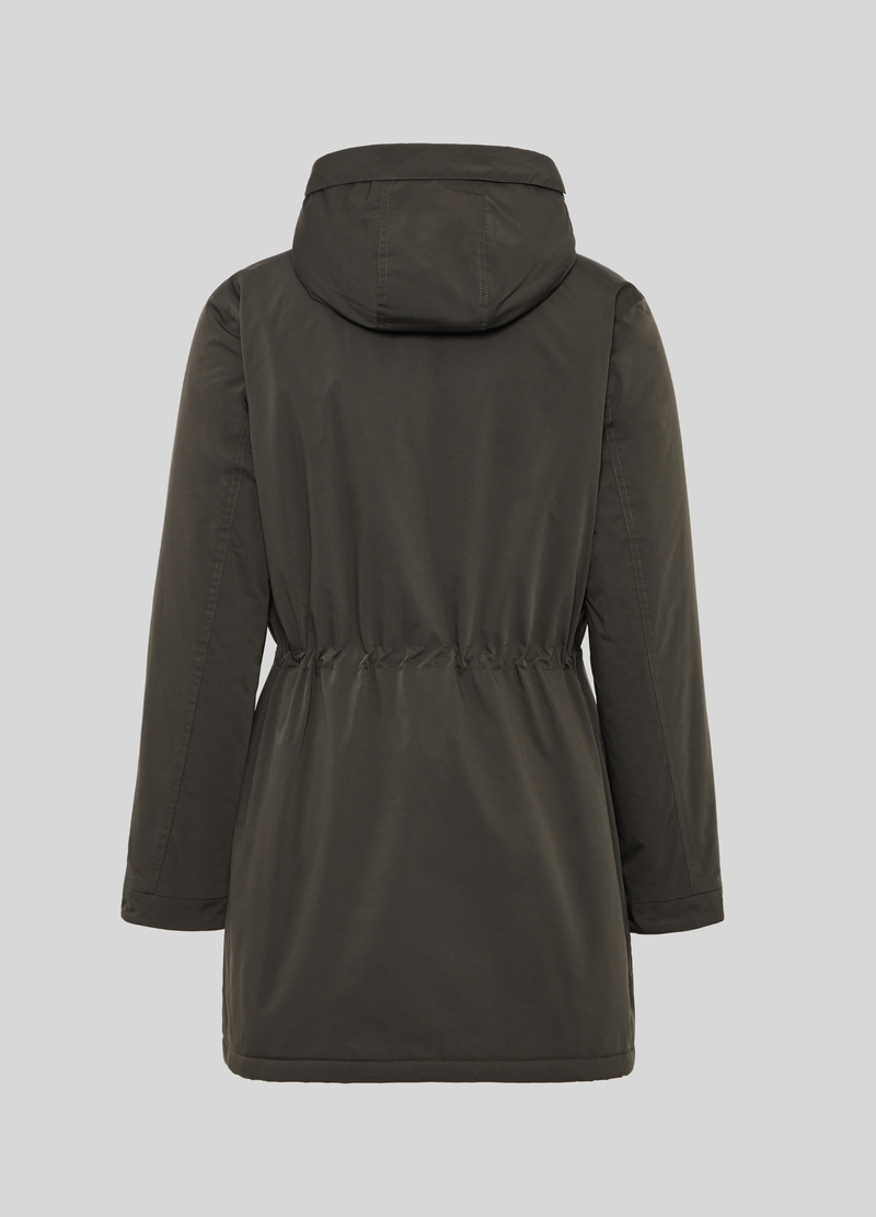 PIOMBO solid colour padded parka image number null