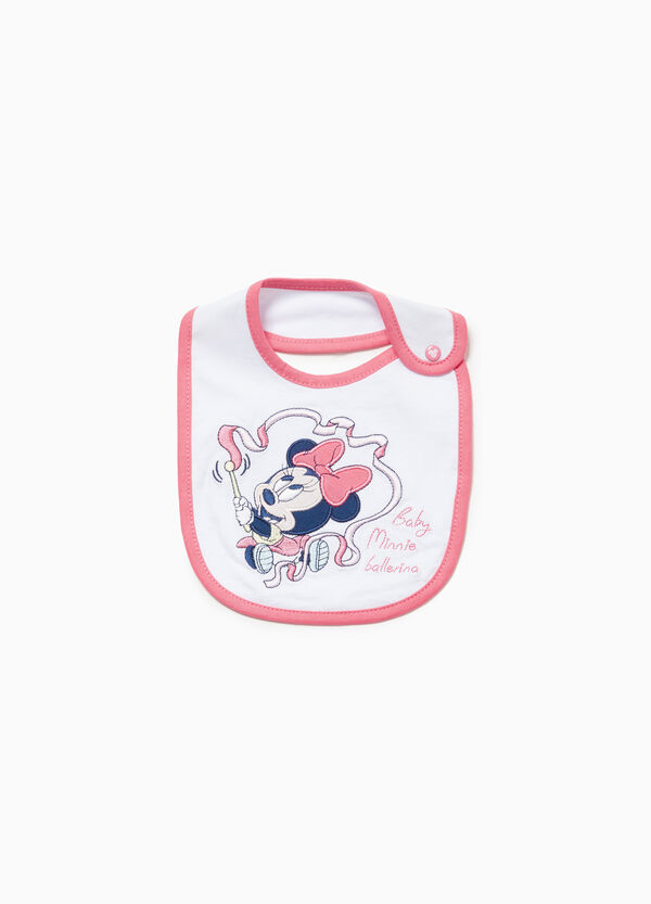 Minnie Mouse bib in 100% cotton with patch