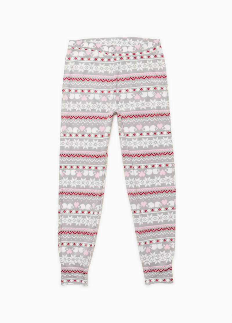 Fleece pyjamas with geometric pattern image number null