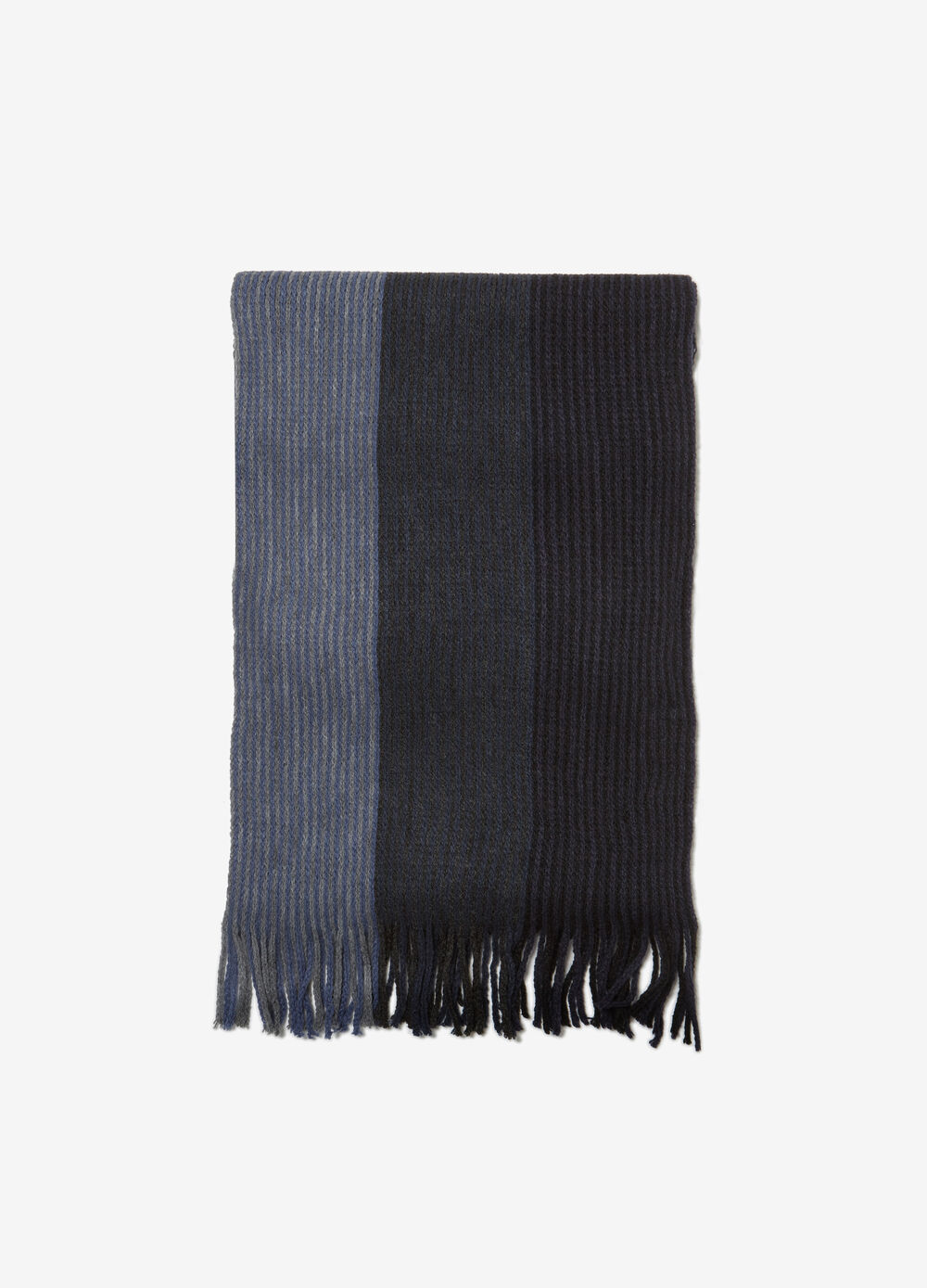 Scarf with striped jacquard motif