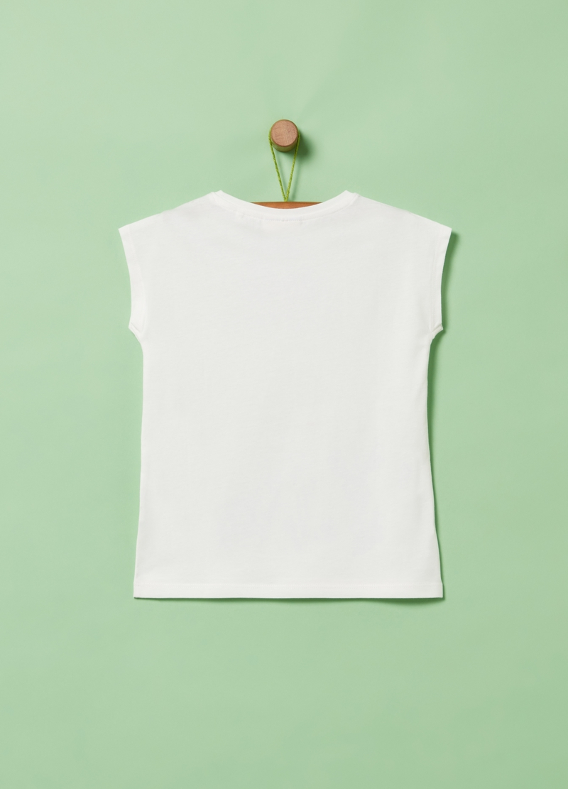 T-shirt puro cotone con stampa image number null