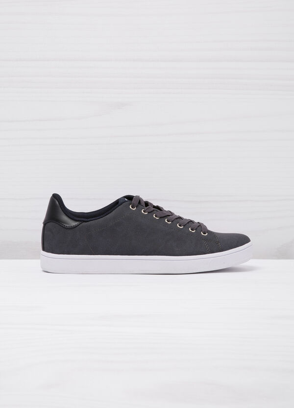 Low faux leather sneakers | OVS