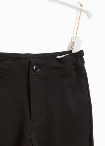 Cotton trousers with turn-ups