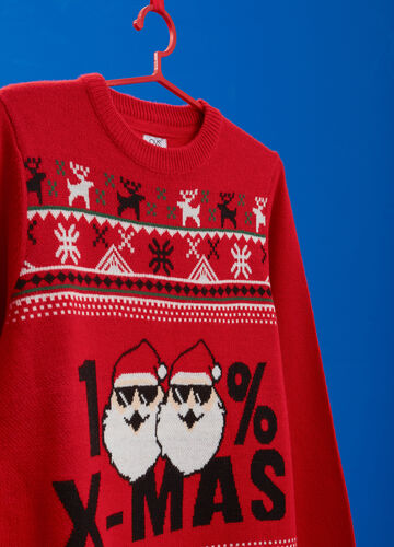 Christmas sweater with Christmas print
