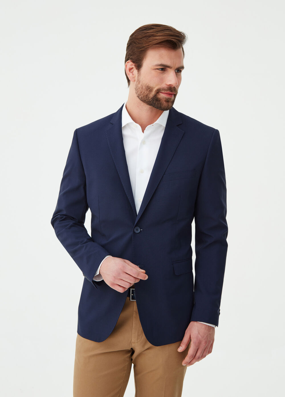 Two-button blazer with lapels