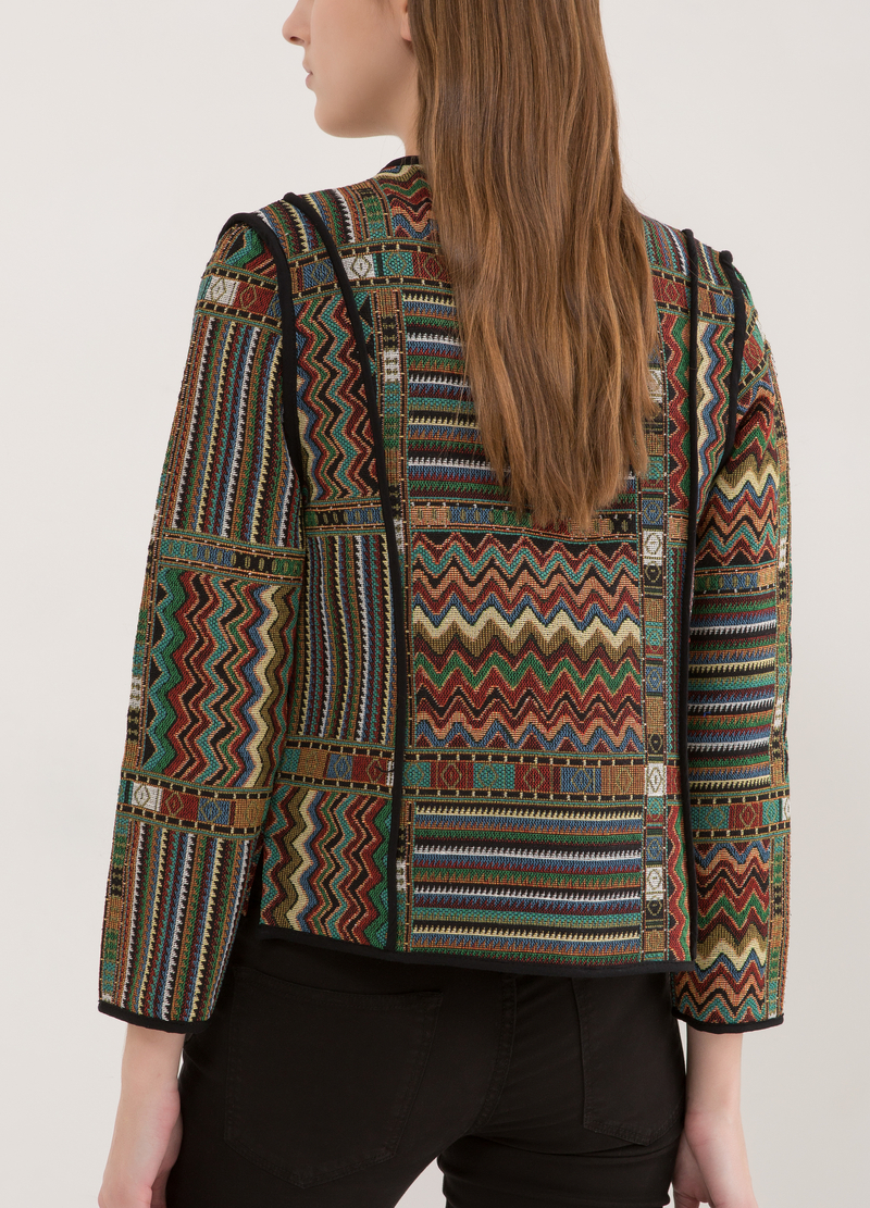 Blazer aperto con stampa image number null