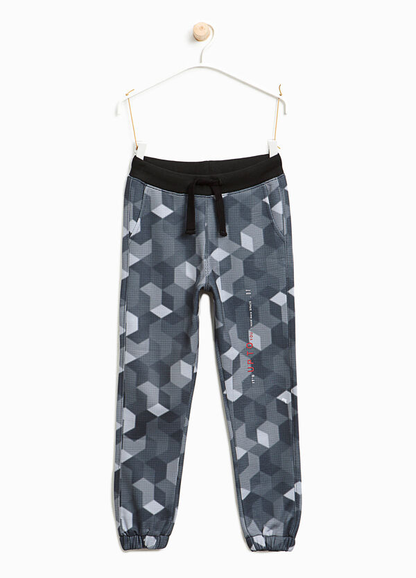 Cotton joggers with geometric pattern | OVS