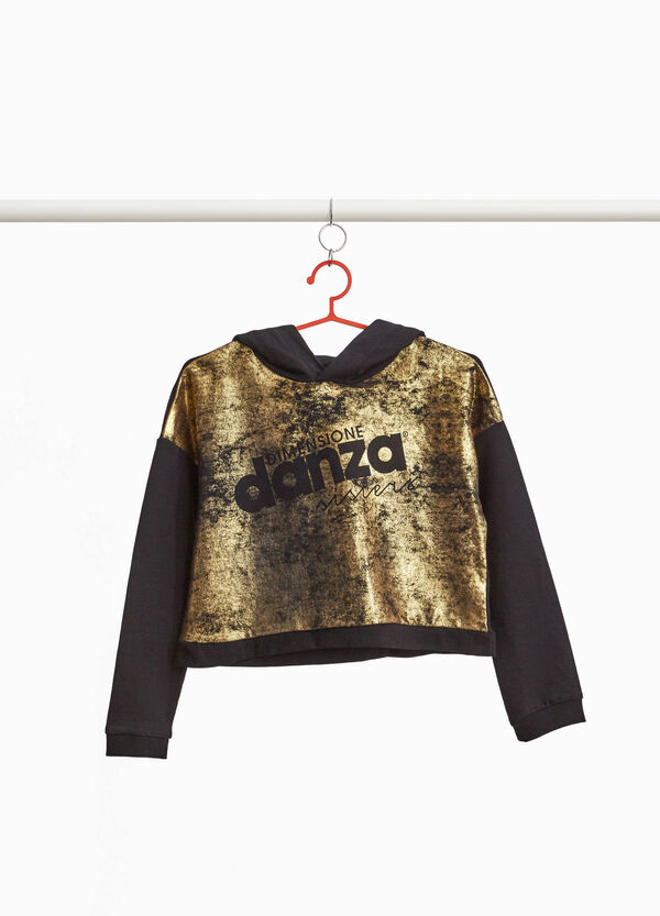 Dimensione Danza cropped sweatshirt with print