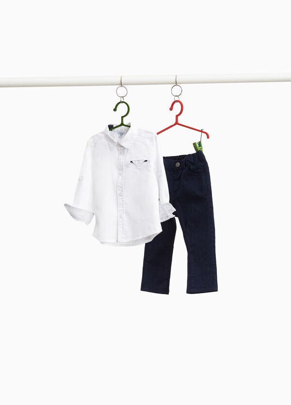 Cotton shirt and trousers set