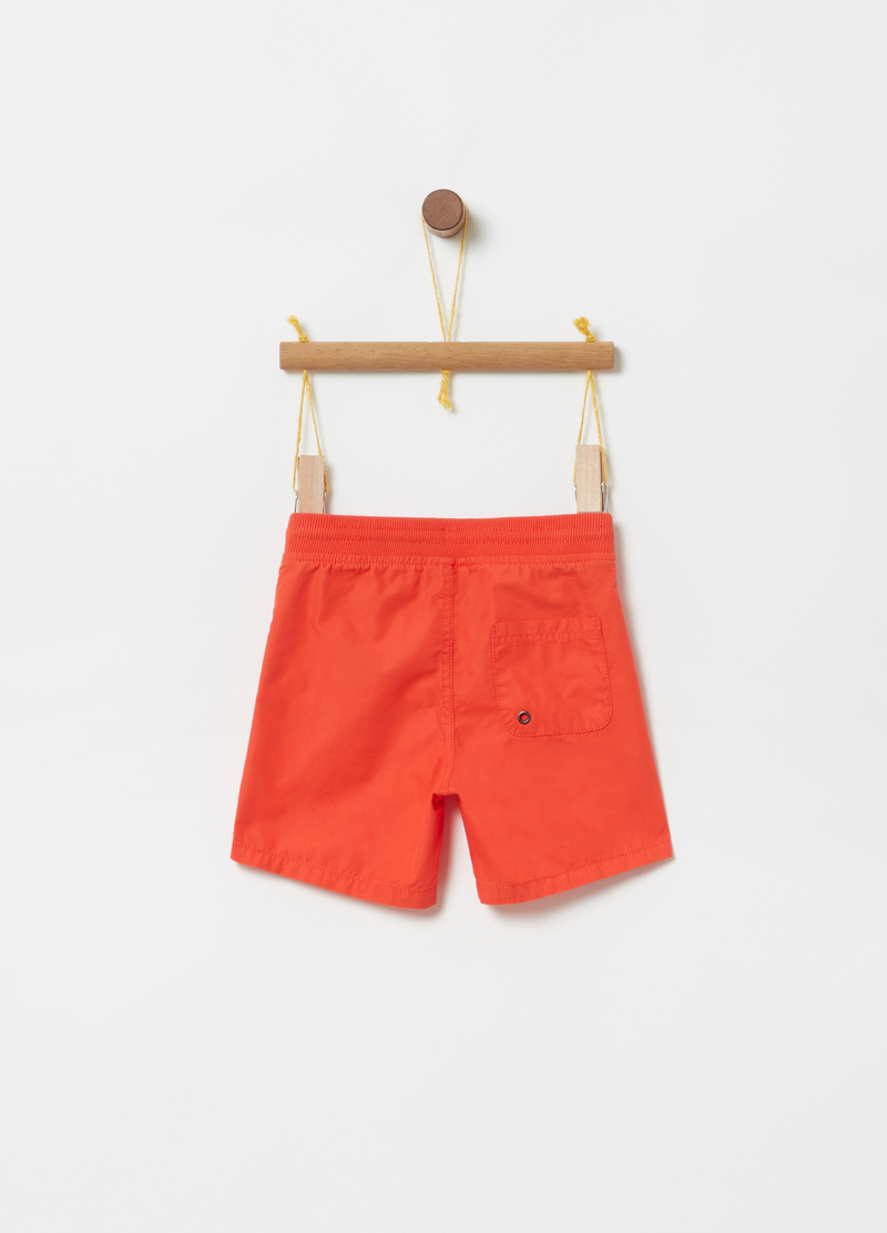 Shorts with ribbing, drawstring and pockets image number null