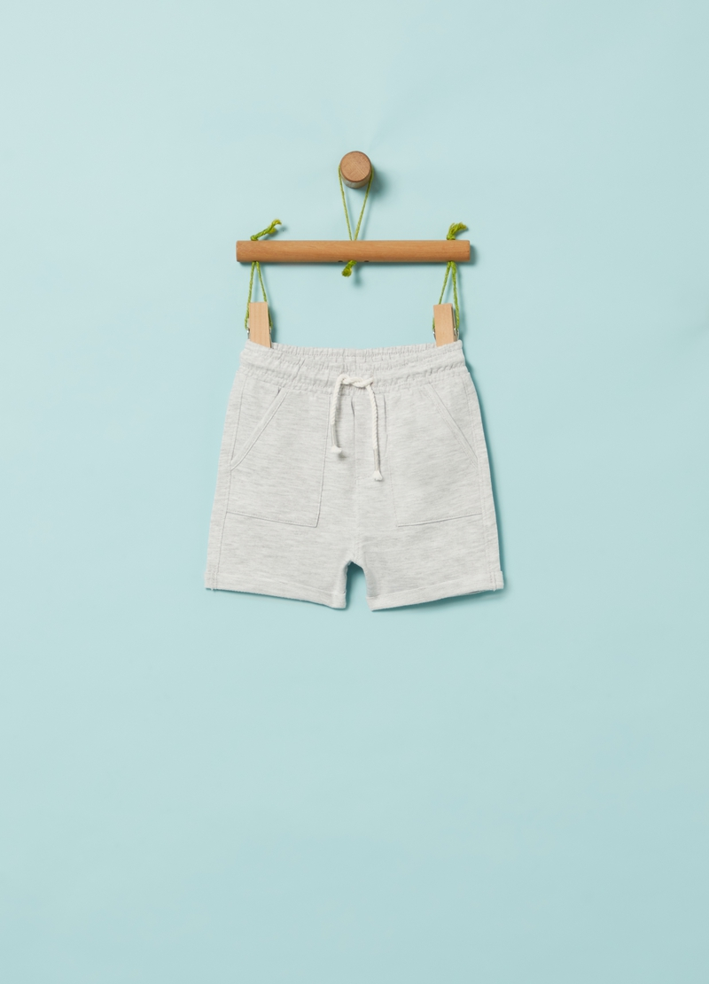 Organic cotton and viscose shorts image number null