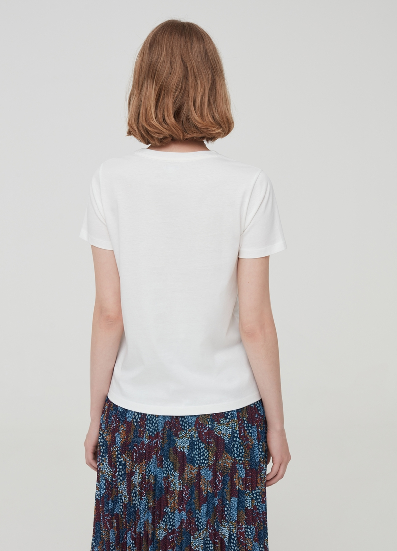 T-shirt with round neckline image number null
