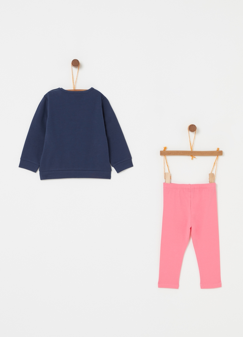 Jogging set con stampa glitter image number null