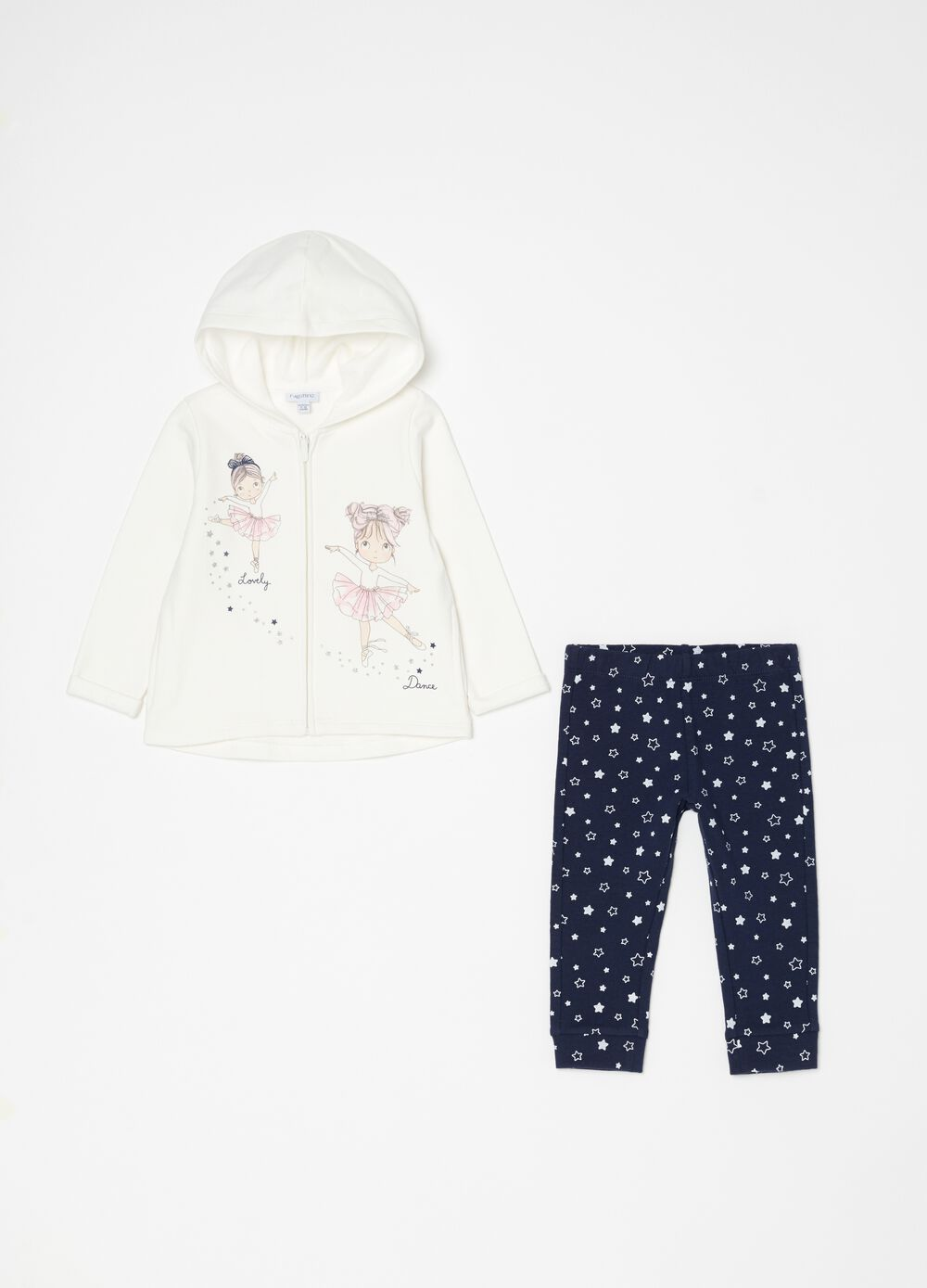 Jogging set felpa e leggings fantasia