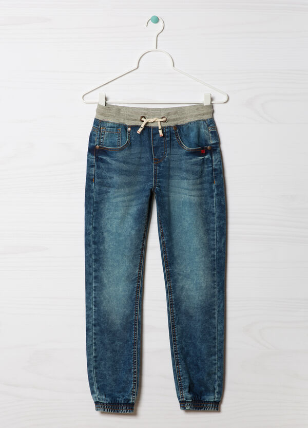 Stretch jeans with drawstring | OVS