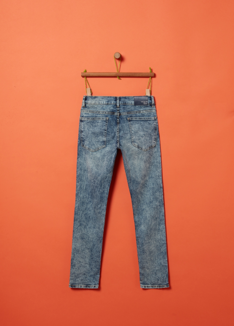 Straight-fit stretch jeans image number null