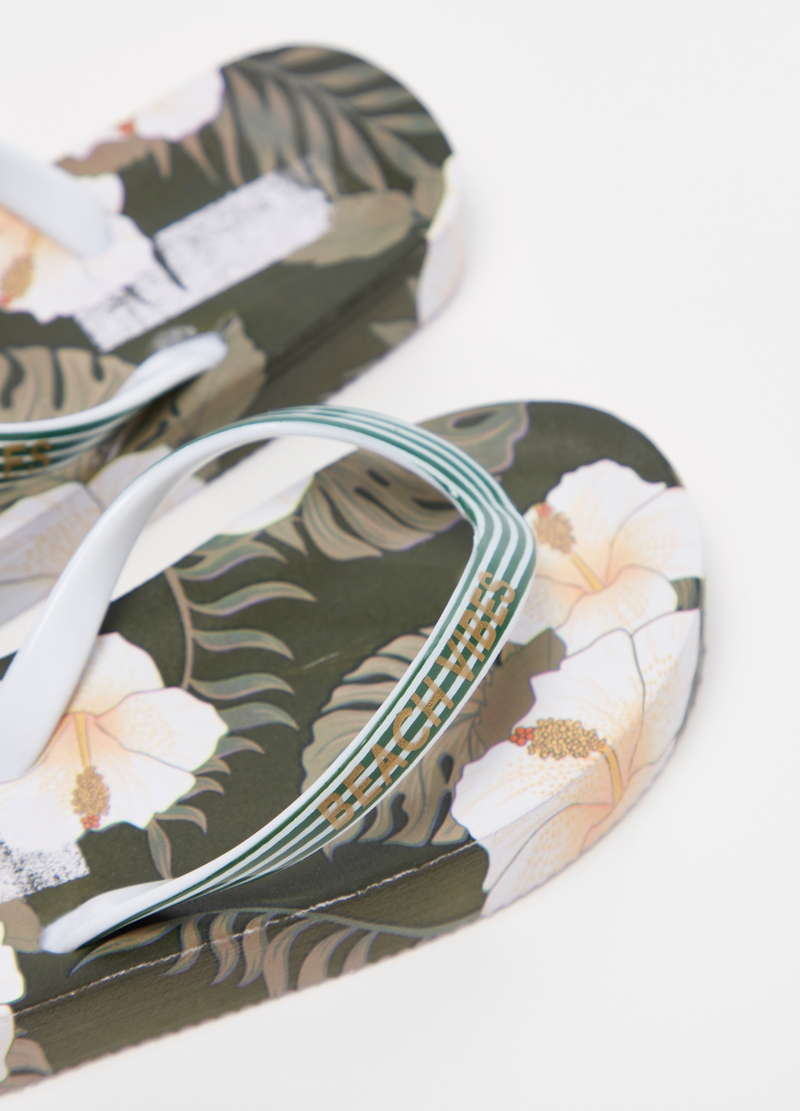 Floral thong sandals image number null