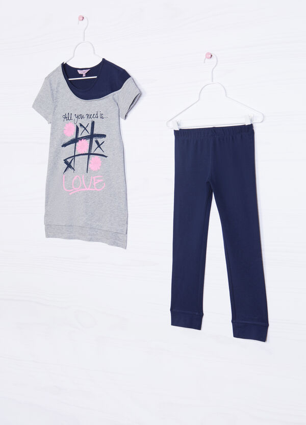 Cotton outfit consisting of T-shirt and leggings   OVS