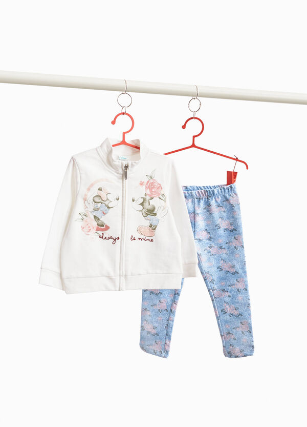 Floreal tracksuit with Mickey and Minnie Mouse