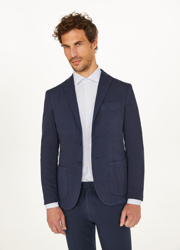Rumford cotton jacket with lapels