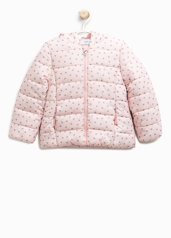 Down jacket with heart print | OVS