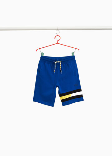 Cotton Bermuda shorts with bands