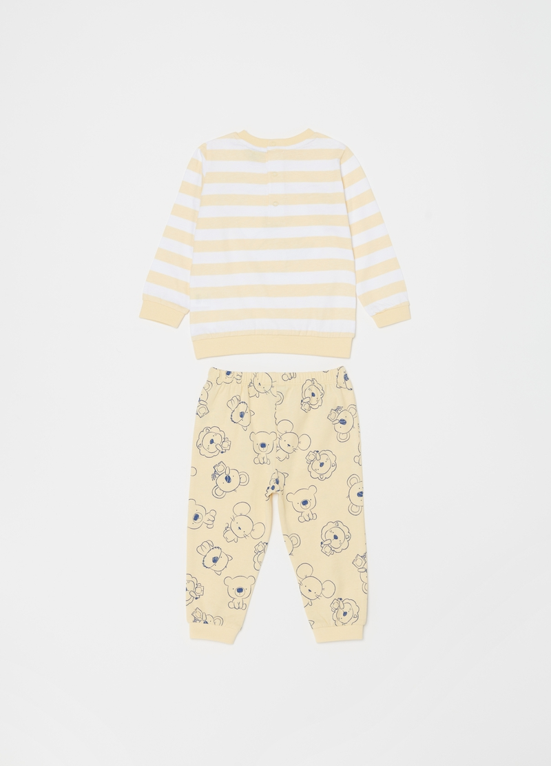 Pyjamas with striped pattern and koala print image number null